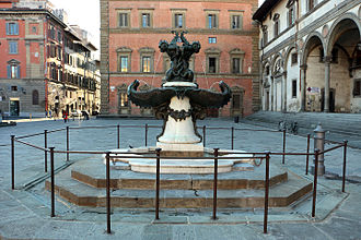 Equestrian Monument of Ferdinando I - Mannerist fountain by Tacca