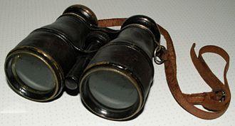 Optomechanics - Galilean binoculars