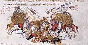Battle of Lalakaon - The Battle of Lalakaon, as depicted in the Madrid Skylitzes