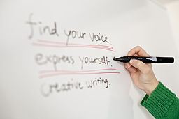 http://upload.wikimedia.org/wikipedia/commons/thumb/f/f5/Find_your_voice._express_yourself._creative_writing..jpg/256px-Find_your_voice._express_yourself._creative_writing..jpg