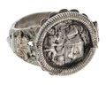 Fingerring i silver föreställande St Antonius av Padua och Jesusbarnet, 1500-tal - Hallwylska museet - 110210.tif