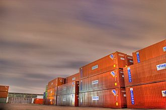 Finnlines - Finnlines/Cronos containers in Germany.