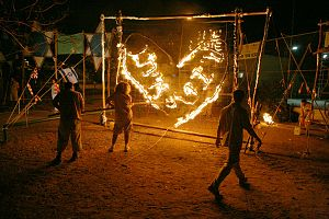Hebrew Scouts Movement in Israel - Fire Ceremony in the Eitan Tribe of the Hebrew Scouts Movement in Israel