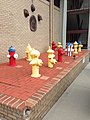 Fire Hydrant collection in front of Tallahassee Central Fire Station.JPG