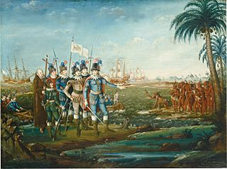 First Landing of Christopher Columbus