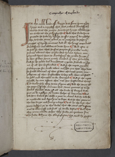 Late medieval English chronicle