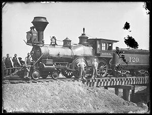 Solomon Butcher - Butcher photo: first train to arrive in Broken Bow, 1886