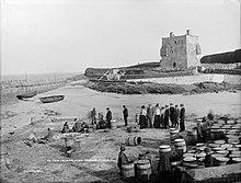 Mayo 1901 Photo Clare Island People by Harbor