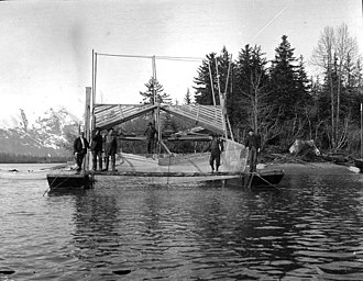 Taku River - Fishwheel on the Taku River, May 1908
