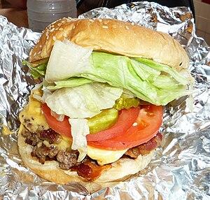 Five Guys - A Five Guys' bacon cheeseburger