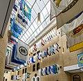 Flags of Massachusetts municipalities in the Massachusetts State House.jpg