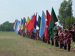 Great Kurultáj - Image: Flags of turan nations Kurultáj, 2014.08.09