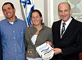 Flickr - Government Press Office (GPO) - P.M. Olmert with Shahar Peer and Udi Gal.jpg