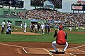 Flickr - Official U.S. Navy Imagery - MA native-Sailor from USS Ronald Reagan, prepares to throw out the first pitch for Boston Red Sox game.jpg