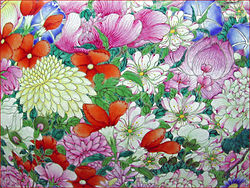 """Flickr - dalbera - Vase à décor """"mille fleurs"""" (musée Guimet).jpg"""