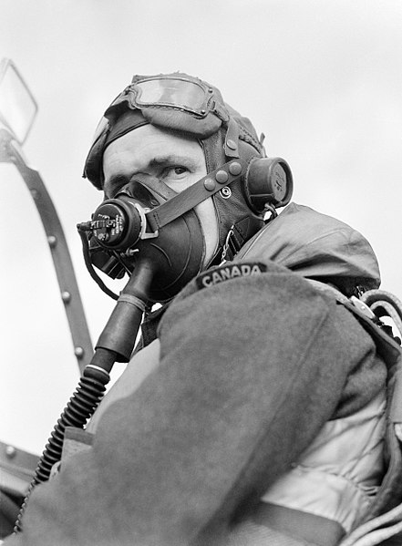 File:Flight Sergeant Georges Nadon, a French-Canadian pilot with No. 122 Squadron, in his Spitfire at Hornchurch, May 1942. CH6781.jpg