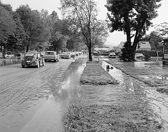 Buena Vista, Virginia - Flooding in Buena Vista caused by the passage of Hurricane Camille through the area