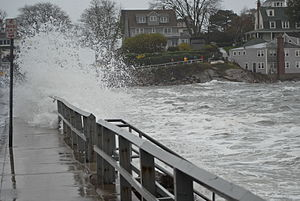 Effects of Hurricane Sandy in New England - Flooding in Marblehead, Massachusetts, caused by Hurricane Sandy on October 29