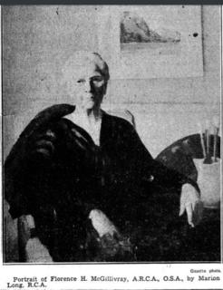 Florence Helena McGillivray Canadian artist