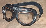 Flying goggles 1980s on hessian fabric 02.jpg
