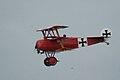 Fokker Dr.I Manfred Richthofen Pass two 06 Dawn Patrol NMUSAF 26Sept09 (14599283132).jpg