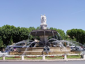 English: Fountain of the Rotonde in Aix-en-Pro...