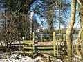 Footpath crosses Buckhurst Road - geograph.org.uk - 2192218.jpg