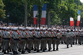 Bastille Day military parade - Foreign Legion