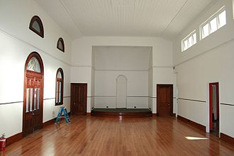 Gympie Lands Office - Former courtroom from north-east, 2009