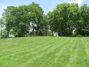 Fort Jefferson (Ohio) - Southern side of the hill on which the fort sat