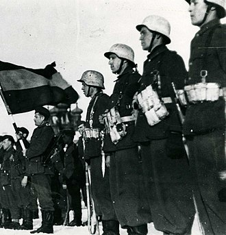 Spain during World War II - Spanish volunteers at an official act