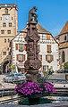 Fountain at Place de l'hotel de ville in Ribeauville.jpg