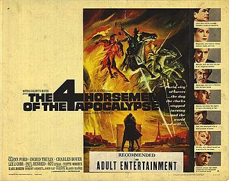Four Horsemen of the Apocalypse (film) - Theatrical release poster by Reynold Brown