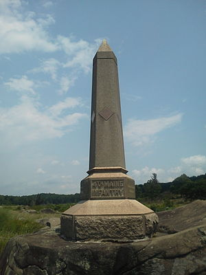 4th Maine Volunteer Infantry Regiment - A monument to the unit at Gettysburg