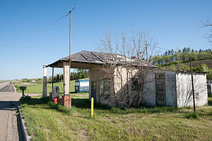 Foxholm, North Dakota - Abandoned Gas Station in Foxholm