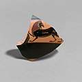 Fragment of a terracotta kylix- band-cup (drinking cup) MET DP21802.jpg