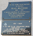 Fran Milčinski here-was-born plaque.jpg