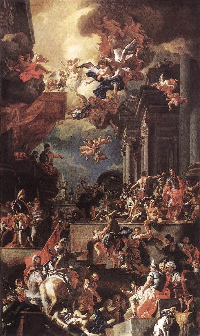 Francesco Solimena - The Massacre of the Giustiniani at Chios - WGA21628