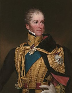 Le général Henry William Paget en uniforme de hussard (peinture de Francis William Wilkin).