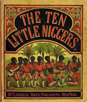 Ten Little Indians - Book cover by Frank Green, 1869