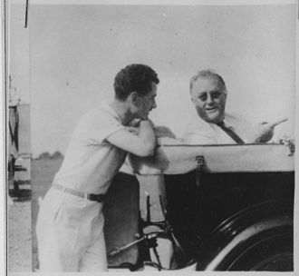 Lowell Thomas - Thomas with FDR in 1936