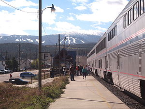 Fraser station - Fraser – Winter Park Amtrak Station.