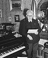 Fred Roeske thuis in verband met 80e verjaardag, Bestanddeelnr 903-0714.jpg