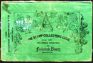Frederick Booty - The cover of Booty's first illustrated stamp catalogue.