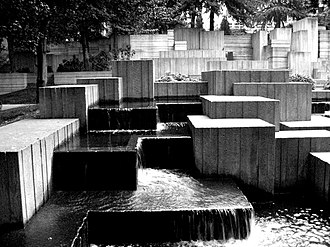 Stepping stones - Image: Freeway Park miles of squares