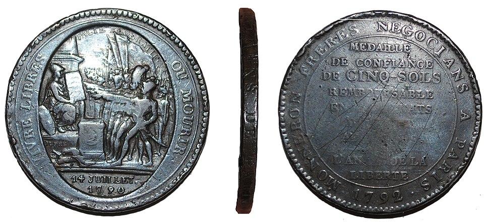 French revolutionary shop token (FindID 530752)