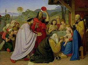 Johann Friedrich Overbeck - The Adoration of the kings