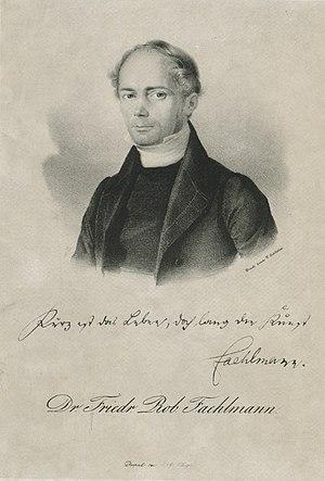 Friedrich Robert Faehlmann - Friedrich R. Faehlmann. Lithograph by Eduard Hau (1838)
