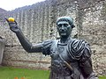 Friends, Romans, Fruitsellers - statue of Trajan on Tower Hill with an orange.jpg
