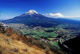 Asagiri Plateau - The Asagiri Plateau with Mount Fuji in the background, viewed from Mount Kenashi